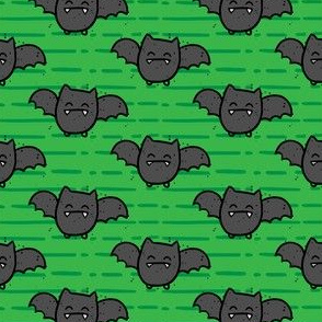 Halloween Cute Bats Green