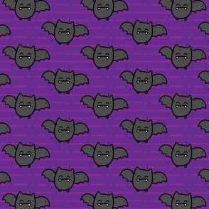 Halloween Bats on Purple Stripes