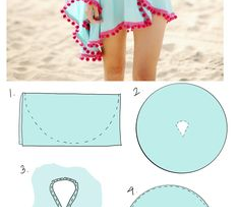Sun on Baby Blue Cover-up Poncho