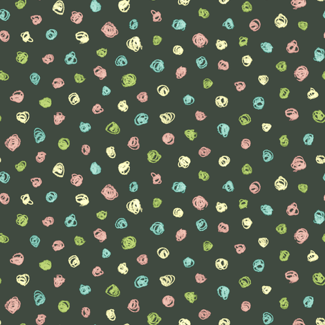 colorful chalk polkadots - oolong fabric by weavingmajor on Spoonflower - custom fabric