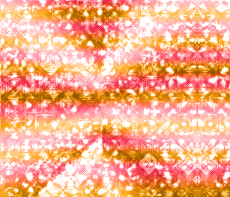 Abstract Gradient Squares Pink Orange fabric by deanna_konz on Spoonflower - custom fabric