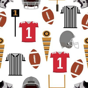 sports football fabric kids football sports red and grey sports