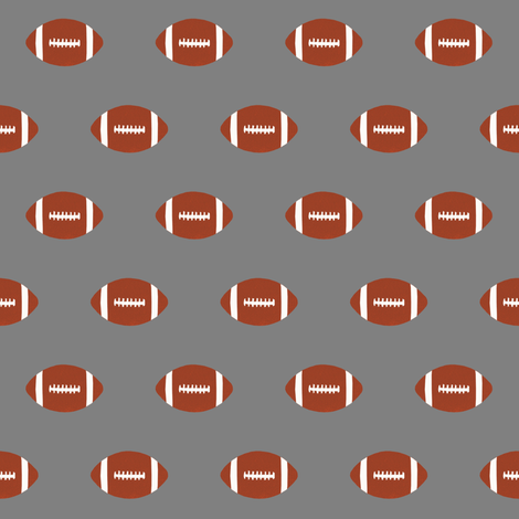 grey football fabric sports football sport fabric kids boys grey fabric by charlottewinter on Spoonflower - custom fabric