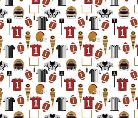 sports football fabric kids sports fabric boys fabric football fabric by charlottewinter on Spoonflower - custom fabric