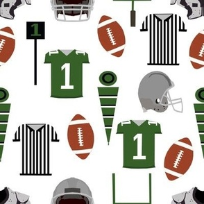 football fabric college football green sports fabric kids boys football sports design