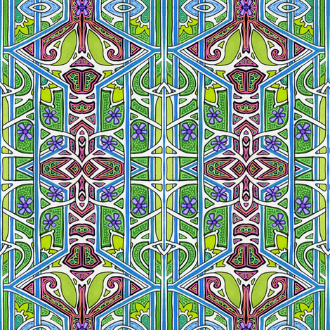 Ching Ching's House fabric by edsel2084 on Spoonflower - custom fabric