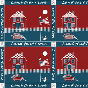 Iand that I love cheater americana quilt