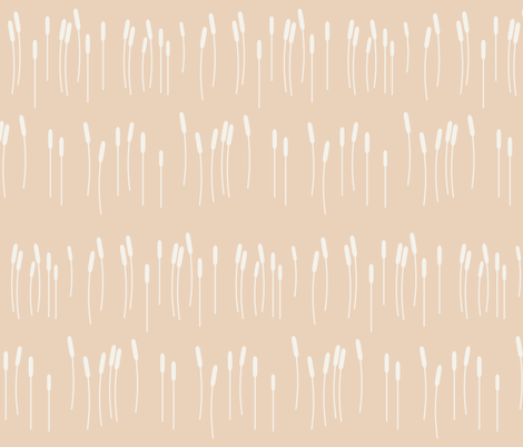 Cattail - nude water grass cane typha fabric by sunny_afternoon on Spoonflower - custom fabric