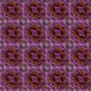 Tie dyed brick wall fushia, purple, pink, burnt sienna, grey