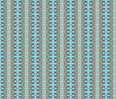 Joy to the Fishies  Aqua mirror fabric by floradore on Spoonflower - custom fabric