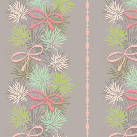 very vintage bows and mums fabric by studiojenny on Spoonflower - custom fabric