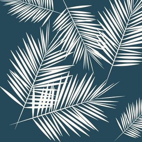 Palm leaf - navy tropical palm tree || by sunny afternoon