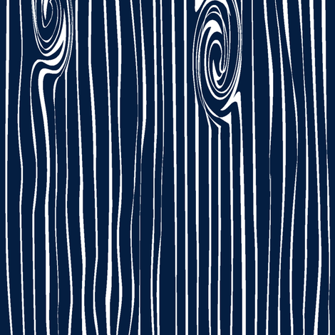 navy woodgrain vertical  fabric by littlearrowdesign on Spoonflower - custom fabric