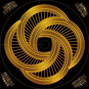 4 Golden Harps Dress