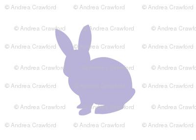 Lavender bunny 2 solid