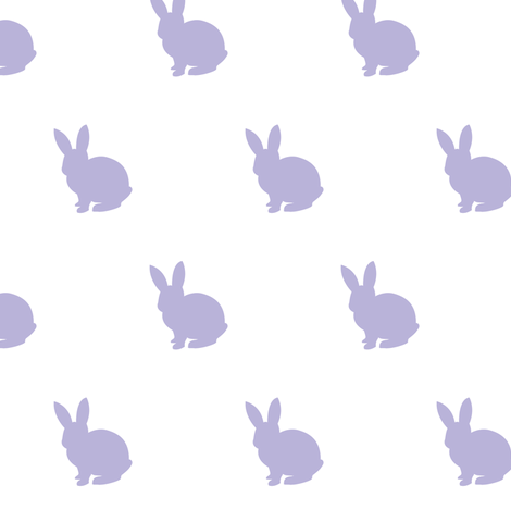 Lavender bunny 2 solid fabric by mintpeony on Spoonflower - custom fabric