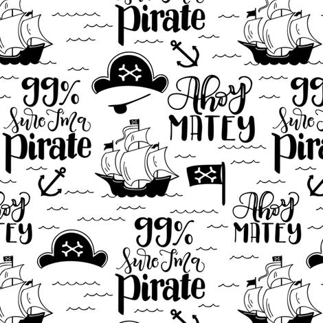 Pirate - White background fabric by howjoyful on Spoonflower - custom fabric