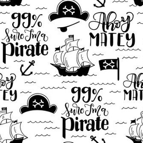 Pirate - White background