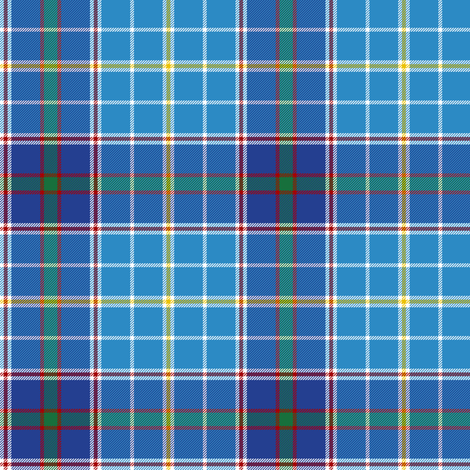 "Texas bluebonnet tartan, 4"" bright fabric by weavingmajor on Spoonflower - custom fabric"