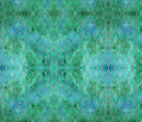 Dragon Green fabric by floramoon on Spoonflower - custom fabric