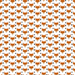 Geometric Fox fabric by fancifuldoodles on Spoonflower - custom fabric