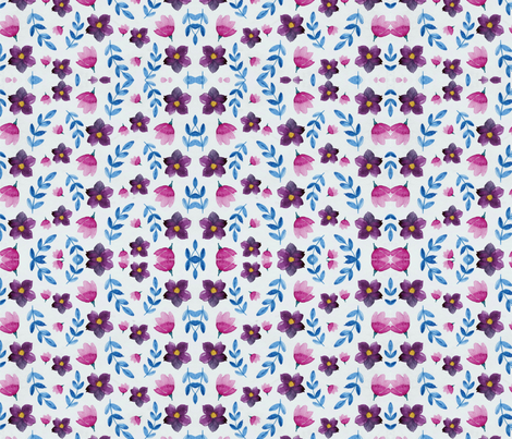 Little purple flowers fabric by floramoon on Spoonflower - custom fabric