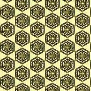 Large Green Hexagons
