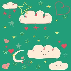 cute happy clouds