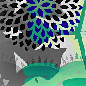 graphitedeco_com's letterquilt bleu