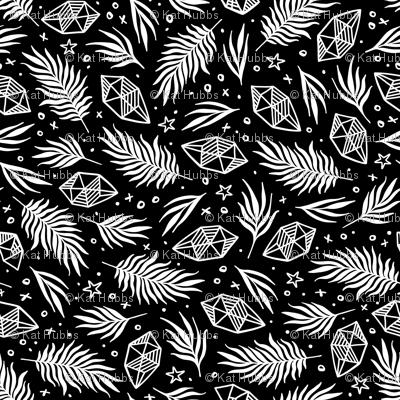 Diamond Flora - Black