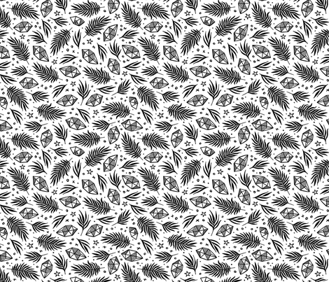Diamond Flora - White fabric by khubbs on Spoonflower - custom fabric