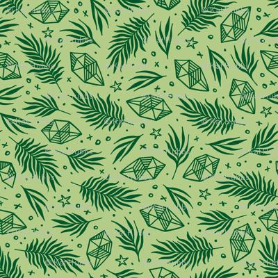 Diamond Flora - Lime