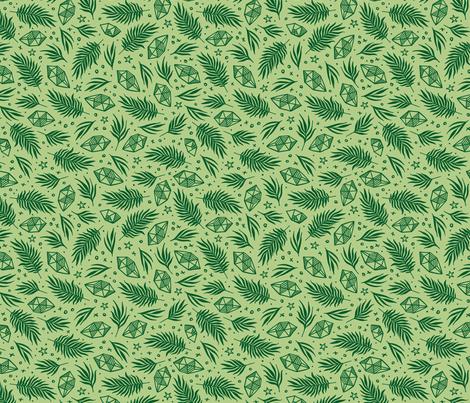 Diamond Flora - Lime fabric by khubbs on Spoonflower - custom fabric