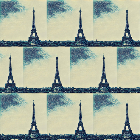 Paris - Eiffel Tower fabric by hapijdesigns on Spoonflower - custom fabric