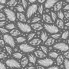 Diamond Flora - Gray
