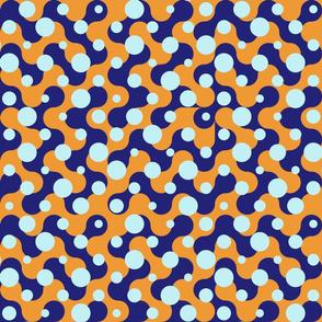 Effervescent Dots - Blue Orange