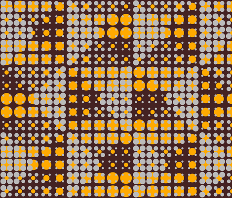 Dots on Dots - Brown fabric by zuzana_licko on Spoonflower - custom fabric