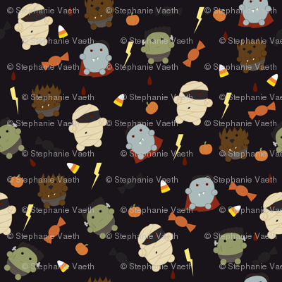Monsters fabric svaeth spoonflower for Monster themed fabric