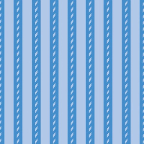 Bicolour Blue Stripes