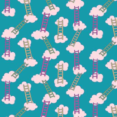 Everybody's Looking For The Ladder fabric by seesawboomerang on Spoonflower - custom fabric