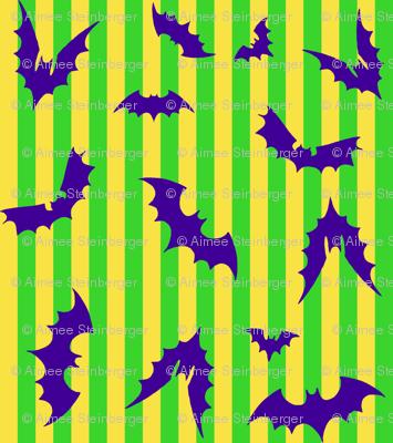Bat Stripe Halloween