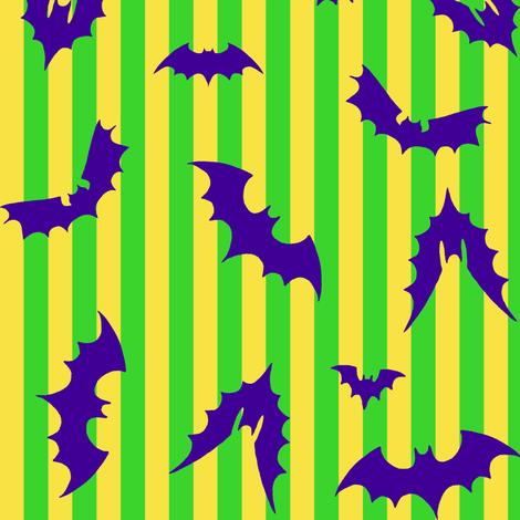 Bat Stripe Halloween fabric by aimee on Spoonflower - custom fabric