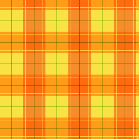 Orange Halloween Plaid fabric by aimee on Spoonflower - custom fabric