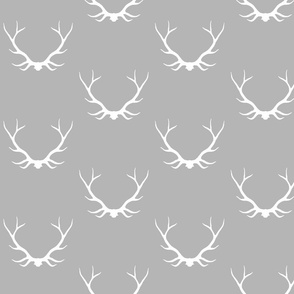 "Big Antlers- 7"" grey/white -"