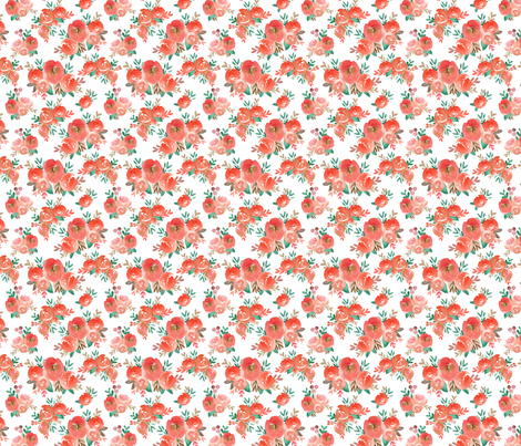 holiday watercolor floral  fabric by smallhoursshop on Spoonflower - custom fabric