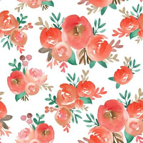 holiday watercolor floral