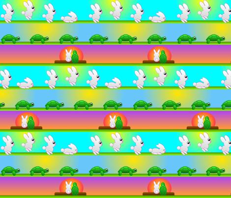 Tortoise & Hare fabric by marukuma on Spoonflower - custom fabric