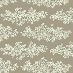 White clouds on linen gray