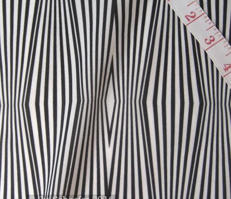Zebra diamond op art stripes, black + off-white by Su_G