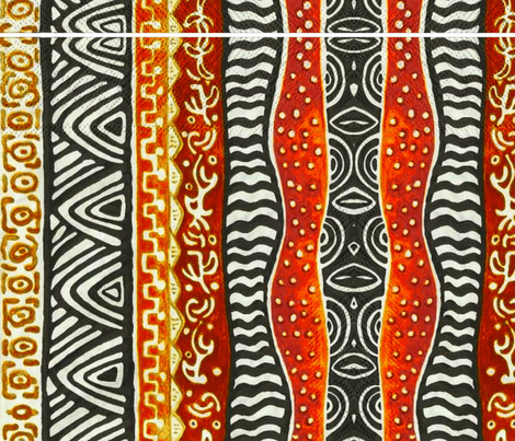 Africa inspired fabric by floramoon on Spoonflower - custom fabric